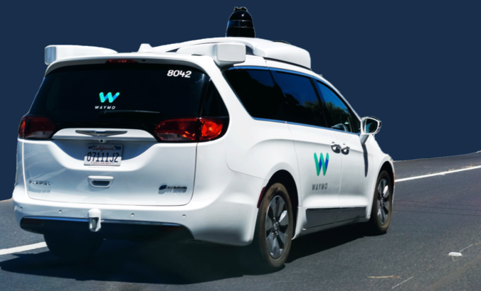 waymo autonomous vehicle  on road