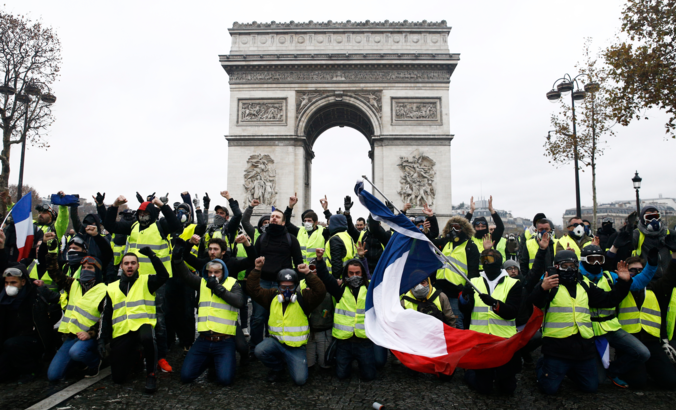 Yellow Vest protests in Paris, France