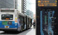 Real-time transit map at bus station
