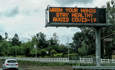 Freeway Virus Warning On a Southern California freeway.