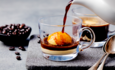 An affogato dessert
