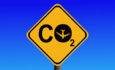 sign with CO2 and airplanes