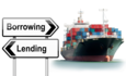 borrowing and lending signs with ship