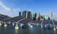 solar energy with Shanghai bund panorama