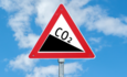 Illustration of a CO2 warning sign