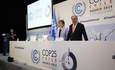 Conference Secretary General Antonio Guterres and Executive Secretary Patricia Espinosa at COP25 in Madrid, Spain