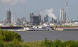 Dow Chemical's St. Charles plant in Taft, Louisiana, along the Mississippi River.