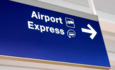 electric airplane shuttle sign