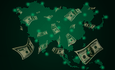 money on map of Asia