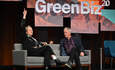 Animal Behaviorist Temple Grandin on stage with Executive Editor Joel Makower during GreenBiz 20.