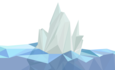 Illustration of geometric iceberg