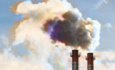 industrial emissions from factory