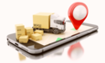 cargo trucks delivering online orders