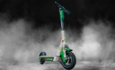 Scooter in smoke