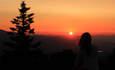Watching sunset on Soda Mountain
