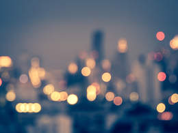 city with blurred lights