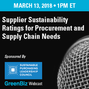 Supplier Sustainability Ratings for Procurement and Supply Chain Needs