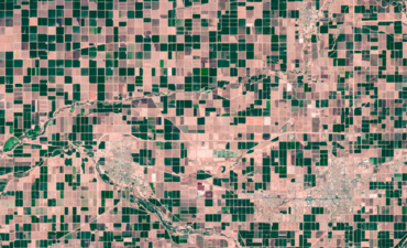 agriculture fields from above