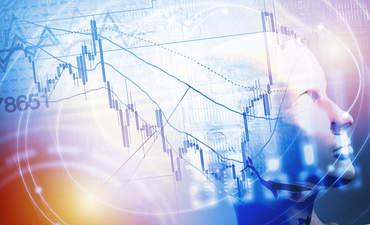 Robot looking at stocks