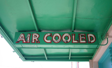 "Vintage mid-century ""Air Cooled"" sign"