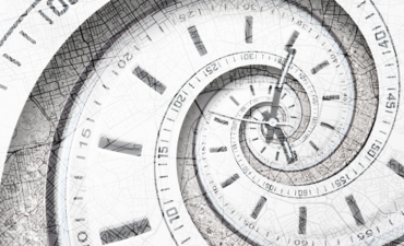 clocks over a map