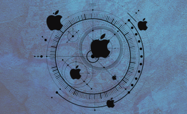 apple company and circular pattern