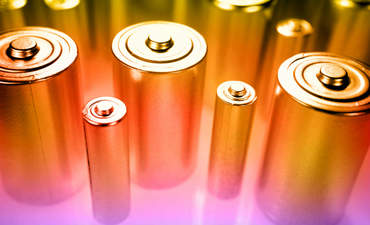 Batteries in a warm light