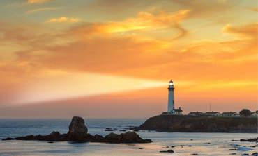 Lighthouse on the California coast.