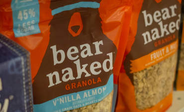 Bags of Bear Naked granola at the grocery store