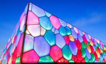 "The ""watercube"" National Aquatic Center in Beijing, China"