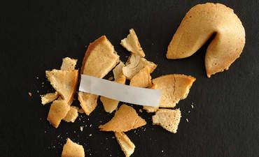 Broken fortune cookies