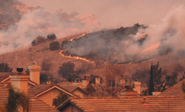 Canyon Wildfire spreading in Southern California