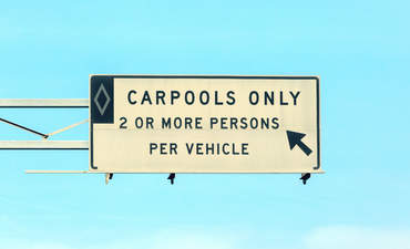 Carpool road sign