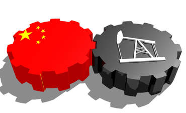 china and oil on gears