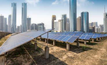 Solar panels in Shanghai.