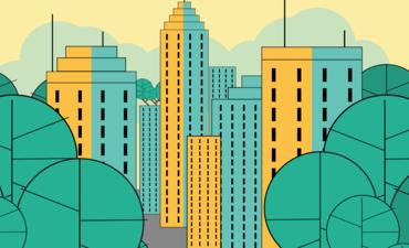 Illustration of city trees