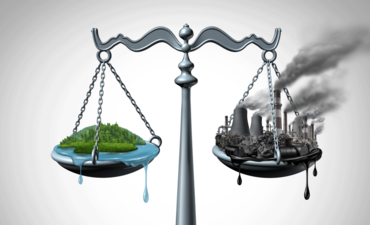 Healthy climate and Unhealthy climate on a scale