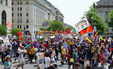 The People's Climate March, Washington D.C., on April 29, 2017.