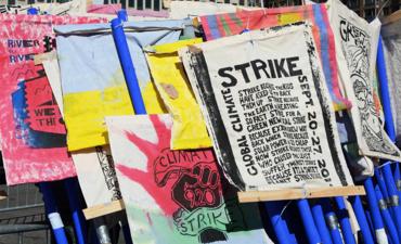 New York City Climate Strike scene