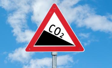 Illustration of a CO2 warning sign
