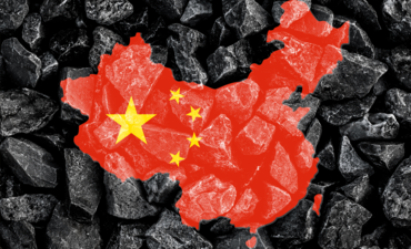 China map over coal