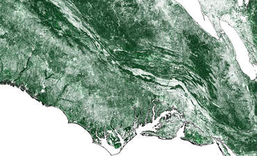 coast in satellite imagery