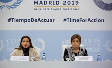 COP25 President Carolina Schmidt and UN Climate Change Executive Secretary Patricia Espinosa