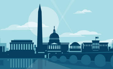 Illustration of Washington, D.C. skyline