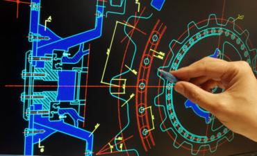 Engineer designing