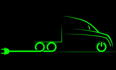 Illustration of an electric truck