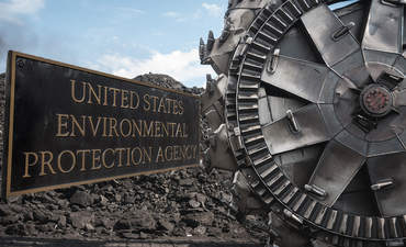 EPA sign and coal
