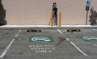 Electric car parking with charging station