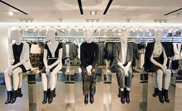 Mannequins at an H&M store in Hong Kong