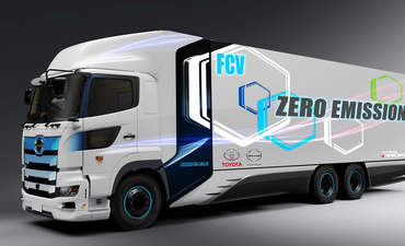 Prototype for heavy-duty fuel cell truck, developed by Toyota and Hino Motors, Ltd.